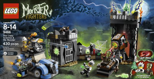 Lego Monster Fighters The Crazy Scientist And His Monster #9466